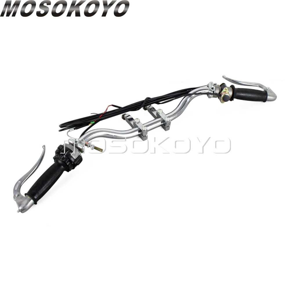 1 jeu de levier complet de câble de frein de poignée de guidon de moto pour Zundapp DB DS DBK KS KS750 BMW M72 R12 R66 Dnepr Ural Sidecar