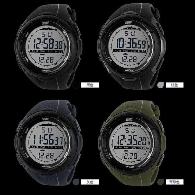 Skmei moda esporte relógio masculino militar do exército relógios alarme relógio resistente a choque à prova dwaterproof água relógio digital reloj hombre 2019 novo
