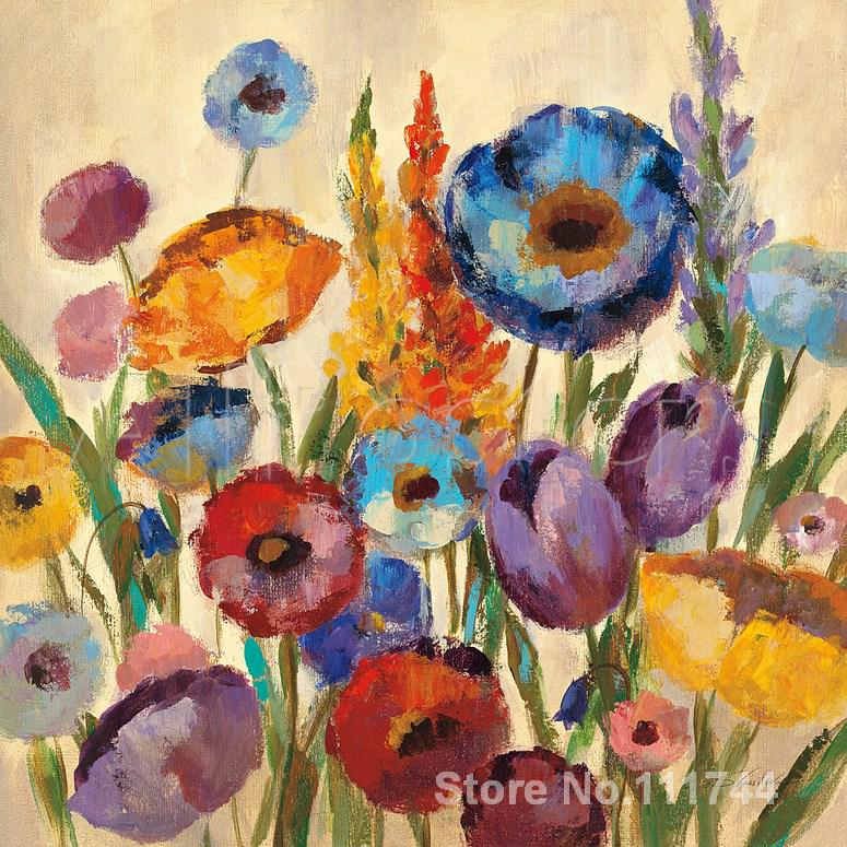 abstract painting of flowers Garden Hues II by Silvia Vassileva art for living room Hand painted High qualityabstract painting of flowers Garden Hues II by Silvia Vassileva art for living room Hand painted High quality