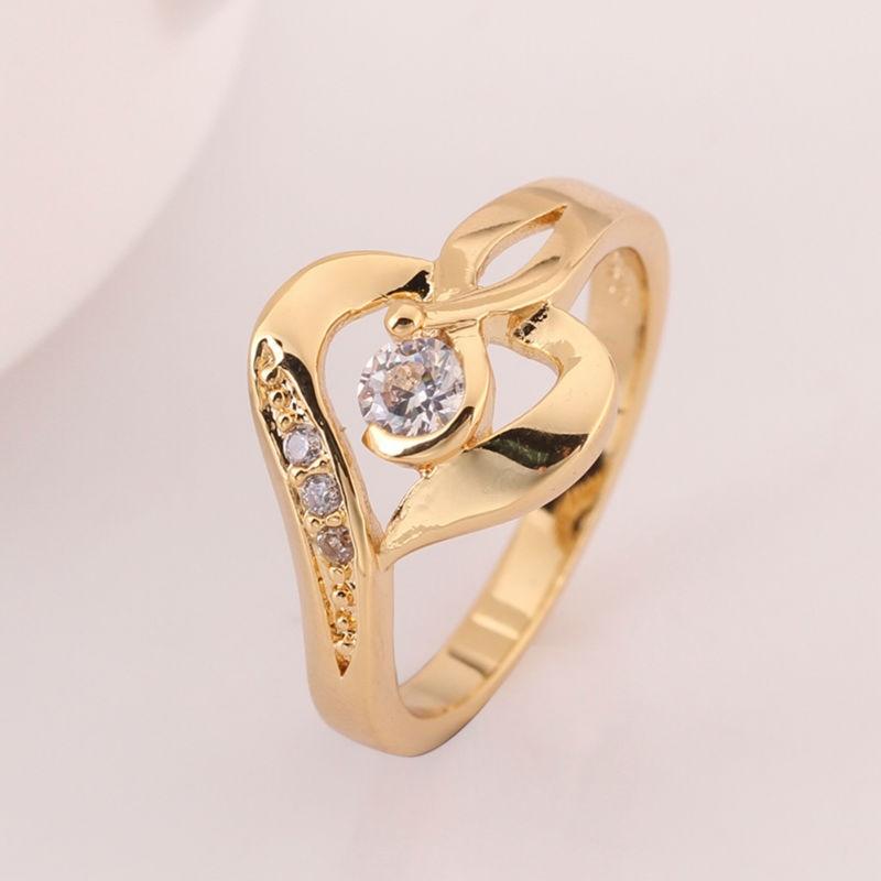 New 2014 24K Gold Filled Rings For Women Engagement Korean Wedding ...