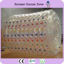 Бесплатная доставка 100% тпу 2.2 м надувные вода ходьбе мяч вода палий оборудования ролик воды мяч aqua катящийся шар зорб мяч