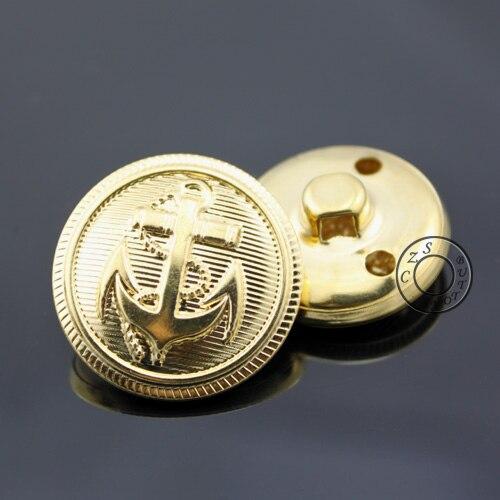 15-25mm Gold Farbe Anker Tasten Mode Metall Ösenknopf, Großfertigkeitknöpfe Großhandelspreis