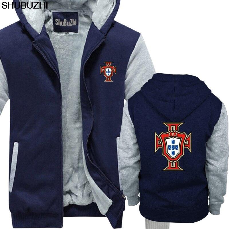 Shubuzhi Mode warme mantel Baumwolle Slim Fit Top Einfarbig Portugal Männer Fußballer Legende Fußball Straße Tragen männer hoodies sbz1057