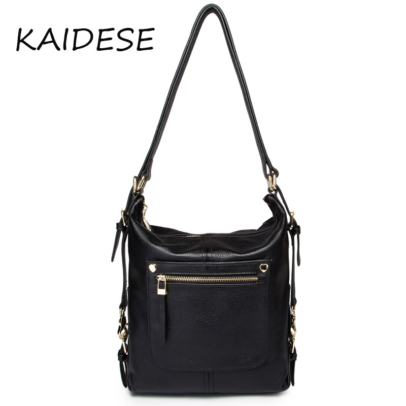 KAIDESE Leather Handbag Shoulder Bag 2017 new European head layer cowhide Fashion Institute wind bag with large capacity europe and the new spring and summer leather handbag bag simple cross head layer cowhide temperament mini bag tote bag