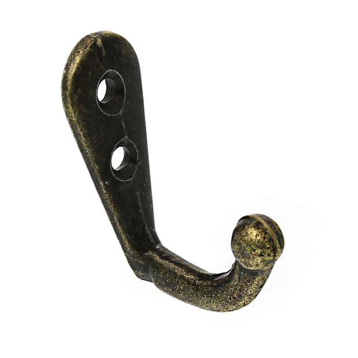 Antique Bronze Clothing Hook Wood Board Mounted Hat Coat Robe Bag Clothing Towel Hanger Hook 22*12*30mm