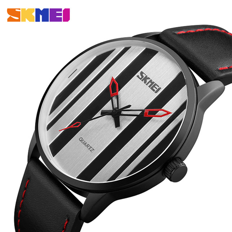 SKMEI New Minimalist Quartz Watches Men Fashion Luxury Brand Leather Simple 30M Waterproof Wristwatches Male Relogio Masculino