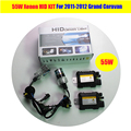1 conjunto 55 W branco lastro lâmpada Xenon HID KIT fácil carro isolamento substituição farol baixo feixe para 2011 - 2012 Grand Caravan