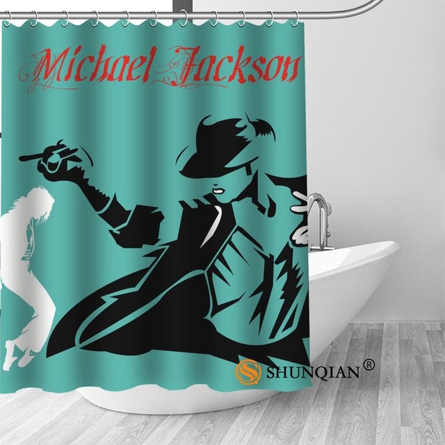 9 Michael jackson shower curtain washable thickened 5c64f7a44eda9
