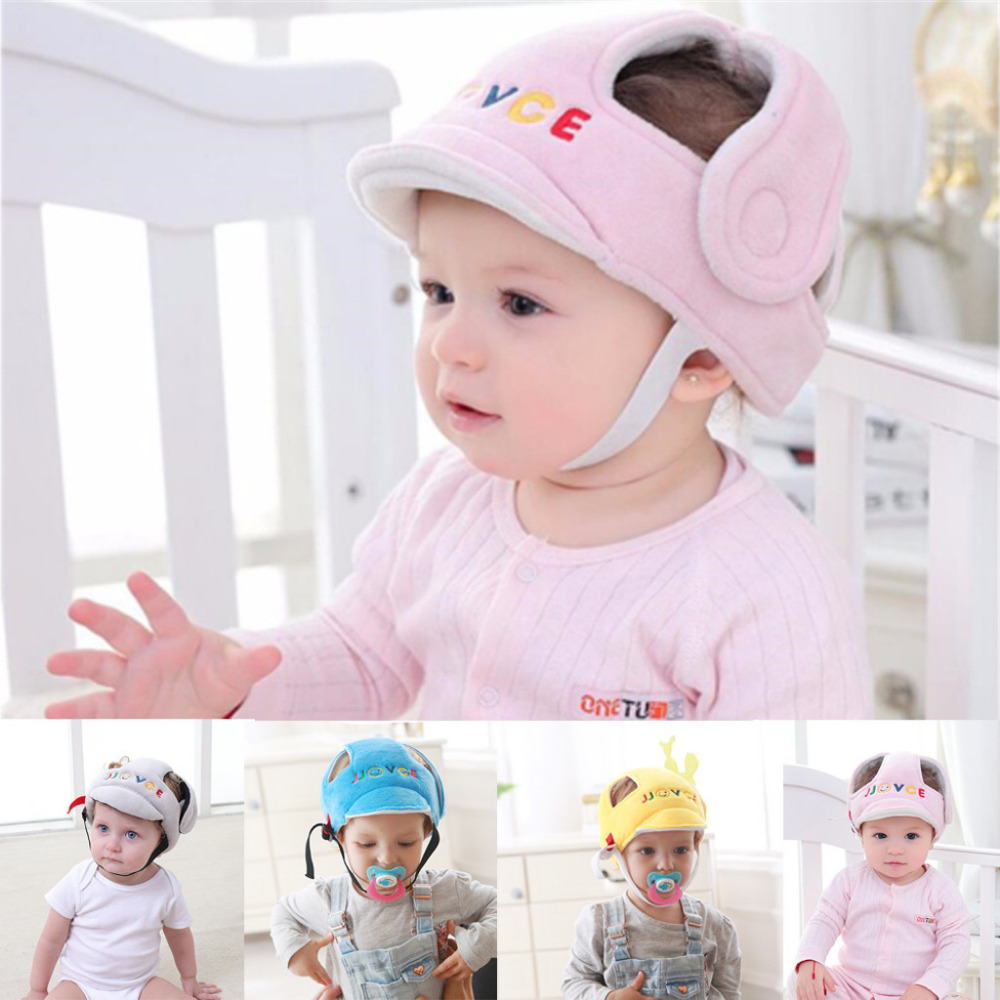 Home Baby Safety Helmet Head Protection Child Child Adjustable Soft Cap 6m-6T FF4