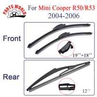 Group Silicone Rubber Front And Rear Wiper Blades For Mini R50 R56 2004 2006 Windscreen Wiper