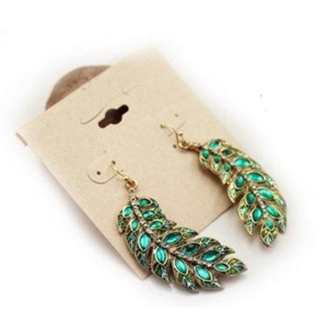 New Fashion Full Crystal Leaves Jewelry Charms Earrings For Women Wholesale E118 ABC