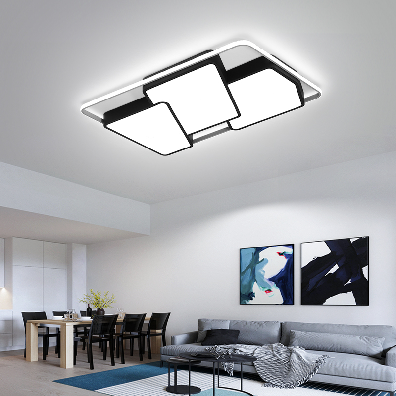 Black/White led ceiling lights for living room lights bedroom plafonnier led home indoor ceiling lamp lamparas de techo Fixture