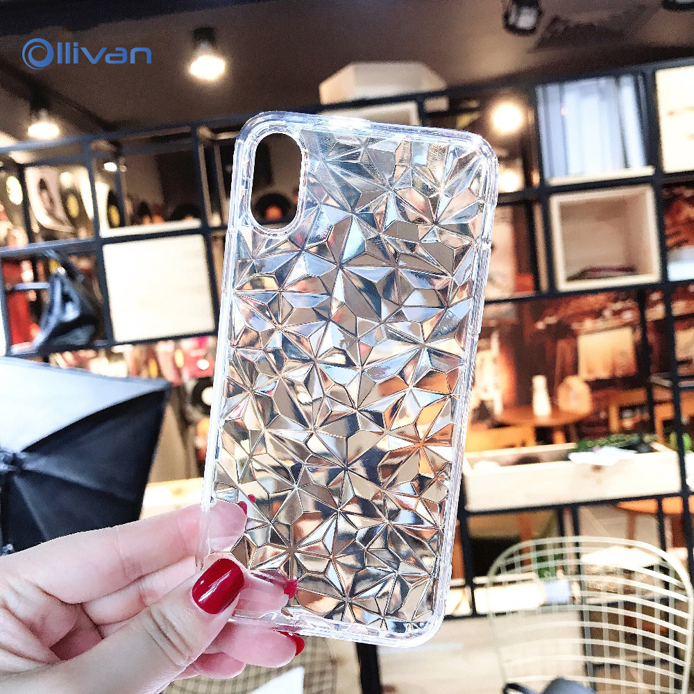 3D Diamond Soft TPU Case for Huawei Honor 8X Mate 7A Pro 10 Silicone Cover for Huawei Mate P20 Lite P20 Pro Transparent Fundas