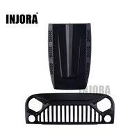 INJORA שחור כניסת אוויר שבכה קדמי פנים & מנוע הוד 1/10 RC Rock Crawler הצירי SCX10 RC4WD D90 ג 'יפ רנגלר רוביקון