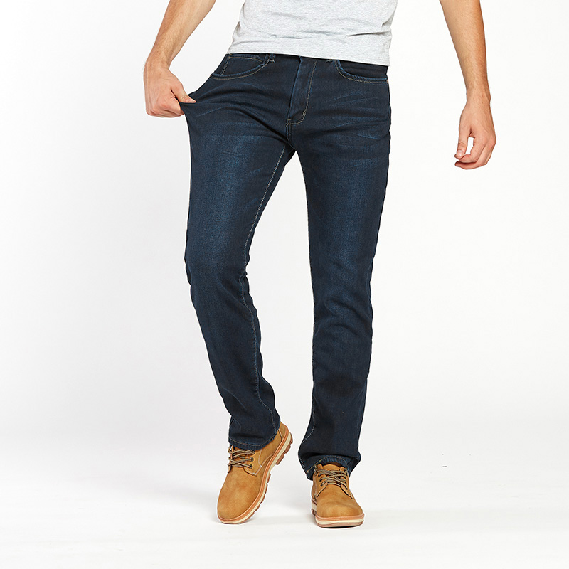 Thermal Warm Flannel Lined Jeans for Men 5