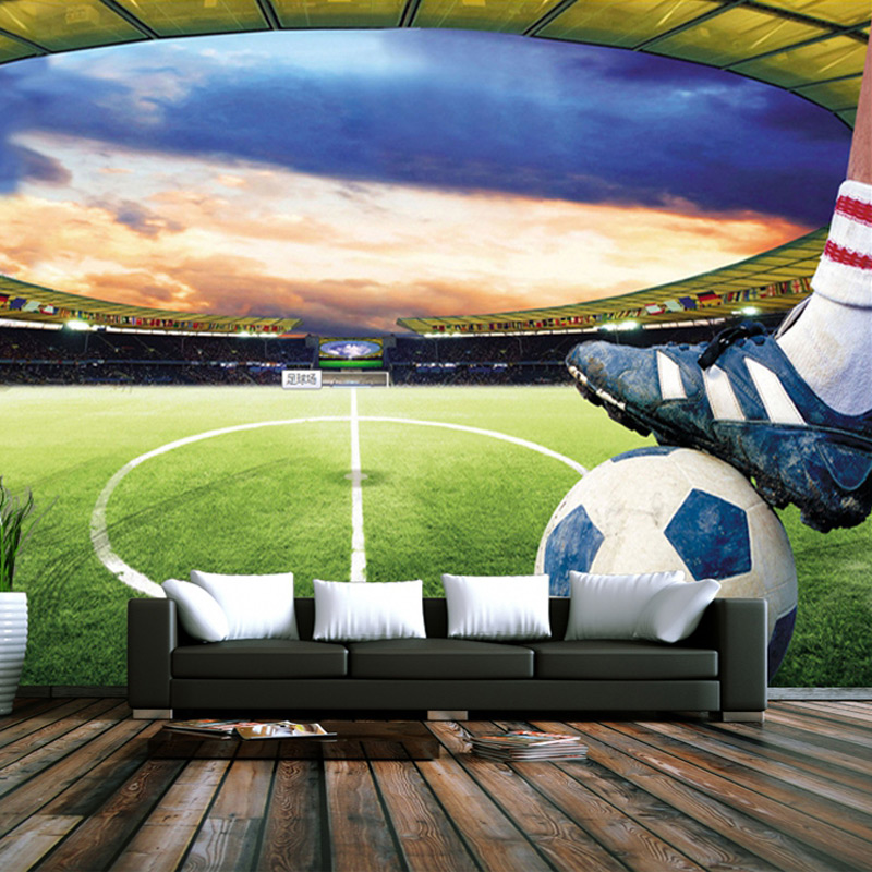 Custom Photo Wallpaper Modern 3D Stereo Non-woven Green Shade Soccer Field Large Mural Living Room Bedroom Background Wallpaper