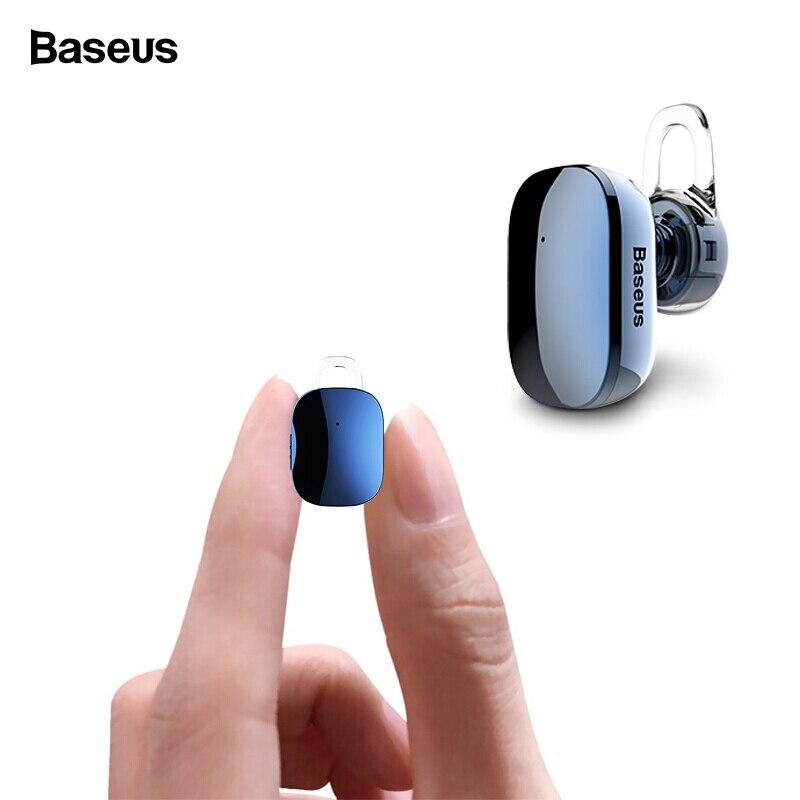 Baseus Mini auricular Bluetooth manos libres inalámbrico Bluetooth auriculares con Mic 4,1 gancho para la oreja Auriculares auriculares para teléfono