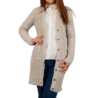 2015 Autumn New Women Long Style Cozy V Neck Cardigan Sweater Coat With Color Noise