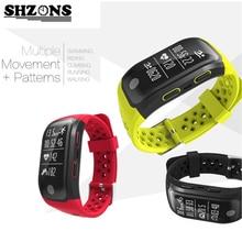 SHZONS Спорт Тестер Smart Браслет Bluetooth GPS трекер SmartBand Водонепроницаемый IP68 Одежда заплыва Браслеты активности Мониторы