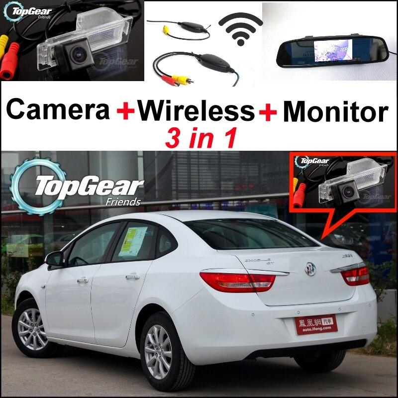Untuk Buick Untuk Excelle GT Verano 3 in 1 Khusus WiFi Camera + Wireless  Receiver + Cermin Monitor Belakang Parkir sistem 60cc57cdf7
