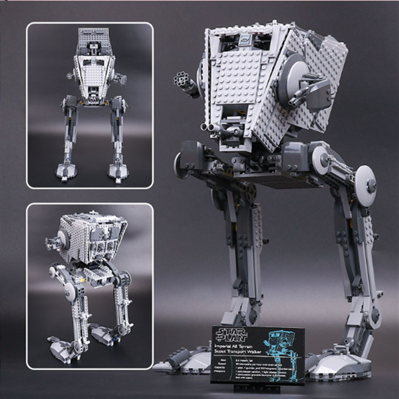 цена на Lepin 05066 lepin starwars Imperial AT-ST Walker Bricks Set Compatible Legoing Star Wars AT-ST Walker 75153 Building Blocks Toys