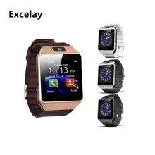 Excelay Смарт-часы DZ09 sim-карты движение вызова Часы Bluetooth подключения телефона Смарт компаньон для телефона Android аксессуары
