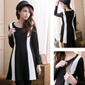 Maternity Nursing Dress  with vertical stripes New Arrival Fashion Simple  European style Breastfeeding Dress