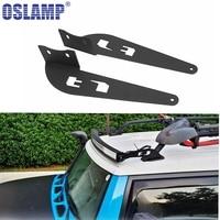 Oslamp 2pcs 52 Inch Straight Curved LED Light Bars Mounting Brackets Fit FJ CRUISER 2007 2014