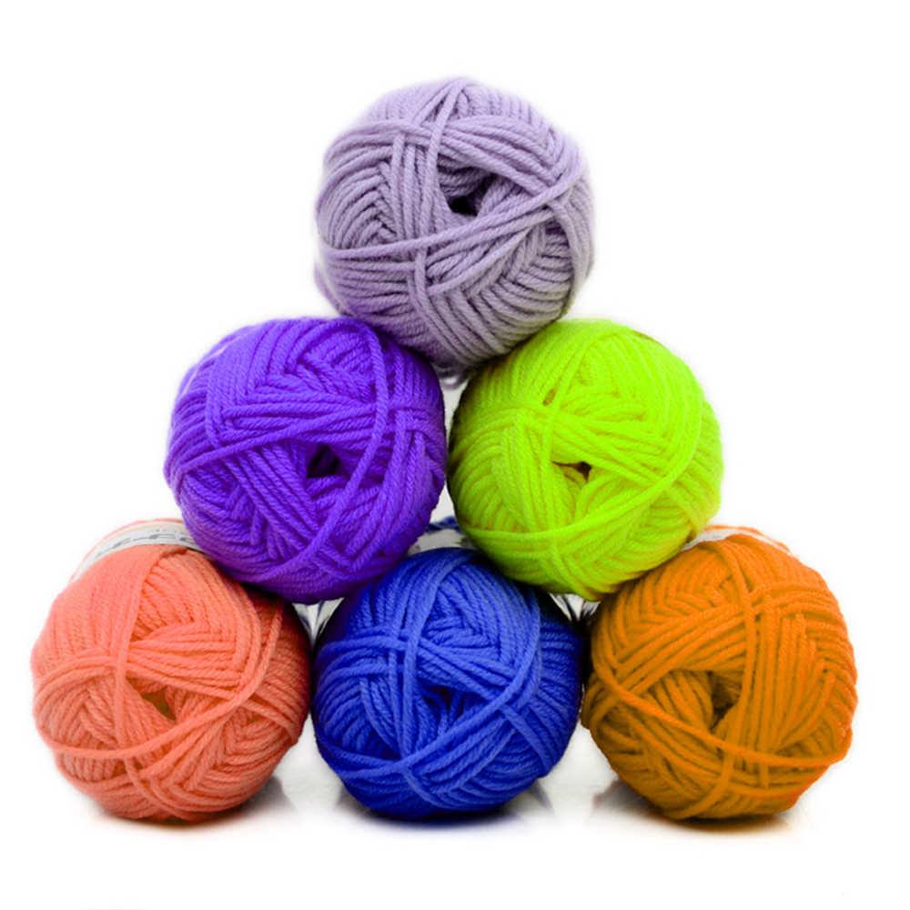 50g/ball 100% anneau filé coton doux laine fil 5 cordes peigné bébé lait coton fil pour tricoter à la main tricoté couverture Cowls chaussettes