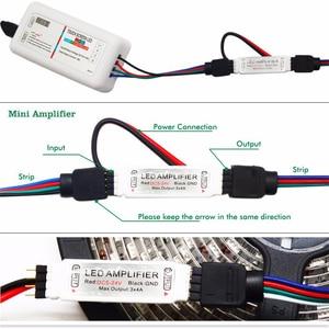 Image 3 - 5050 RGBW/RGBWW مرنة LED قطاع مجموعة مع 2.4G اللمس جهاز التحكم عن بُعد بالتردادات الرادوية/ اللاسلكية 12 فولت موائم مصدر تيار + مكبر للصوت 5 متر/10 متر/15 متر/20 متر