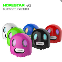 Bluetooth speakers innovative ghost Halloween gift design portable bass stereo TF card mobile phone HD calls smart voice prompt