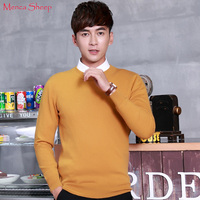 Menca Sheep Brand Man Jumpers 100 Goat Cashmere Sweaters Winter Warm Oneck Fashion Pullovers High Quality