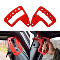New Front Black/Red Aluminum Grab Handle for Jeep Wrangler JK JKU Unlimited Rubicon Sahara X Off Road Sport Interior Accessories