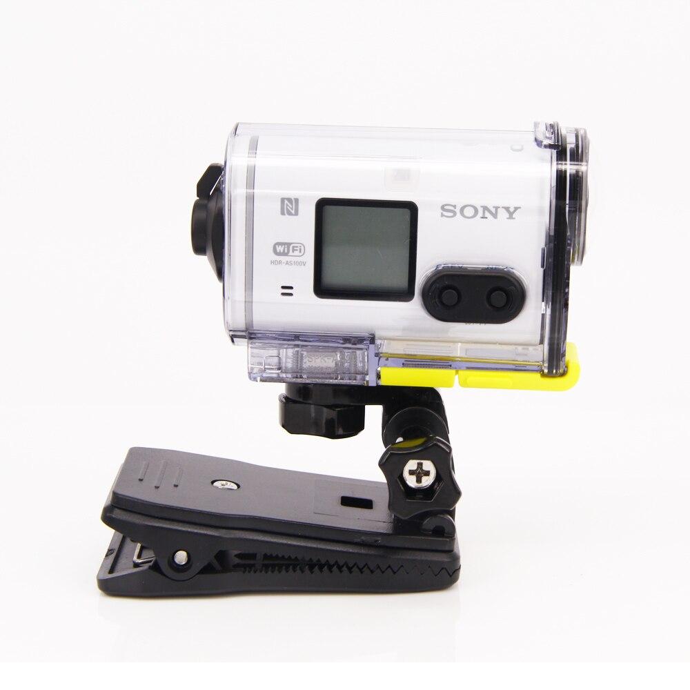 ShoulderBag mochila clip abrazadera de montaje para Sony acción Cam HDR AS20 AS15 AS100V AS30V AZ1 AS200V FDR-X1000V aee Accesorios