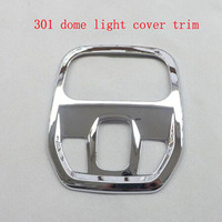 For Peugeot 301 Automobile ABS Chrome Dome Light Reading Lamp Cover Decoration Ring Trim Car Styling