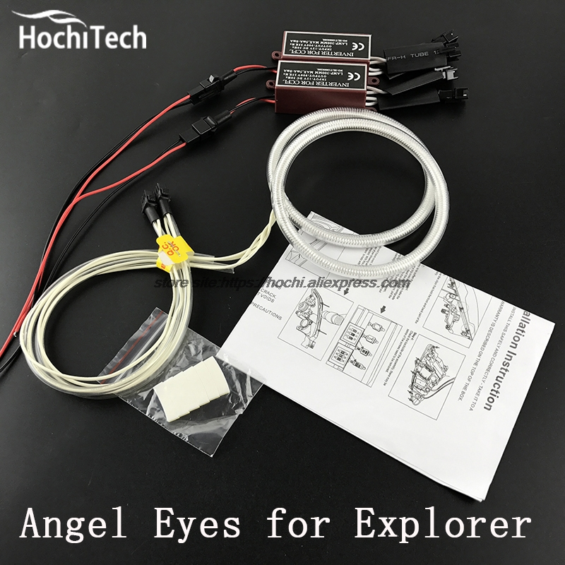 все цены на  HochiTech Excellent CCFL Angel Eyes Kit Ultra bright headlight illumination for Ford Explorer 2011 2012 2013 2014 2015  онлайн