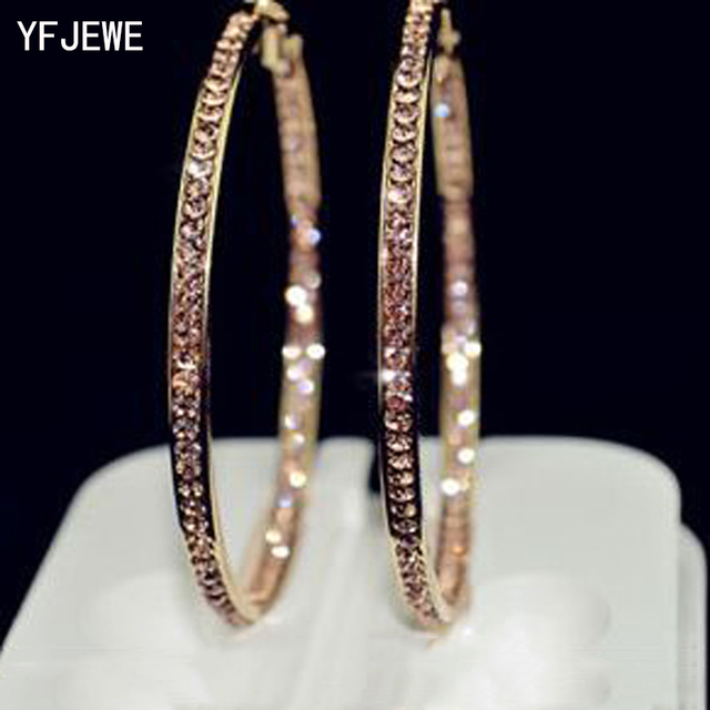 2018 Top Popular Earrings With Rhinestone Circle Earrings Simple Earrings Big Ci