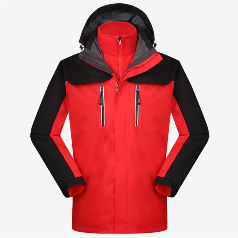 New Winter Unisex Softshell Outdoor Jacket Removable Waterproof Quick Dry Thermal Jacket Men Women Anti-uv Camping Hiking Jacket