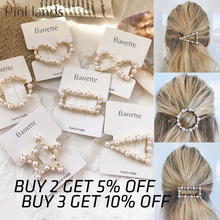 Fashion Crystal Pearl Hair Clip Metal Hairclip Elegant Barrette Bobby Hair Pins Wedding Hair Styling Tool Hair Clips for Women