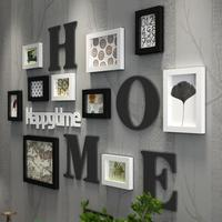 Multi frame European Stype Home Design Wedding Love Photo Frame Wall Decoration Wooden Picture Frame Set Wall Photo Frames Set