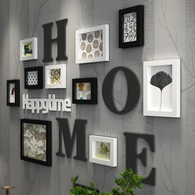 Multi-frame European Stype Home Design Wedding Love Photo Frame Wall Decoration Wooden Picture Frame Set Wall Photo Frames Set