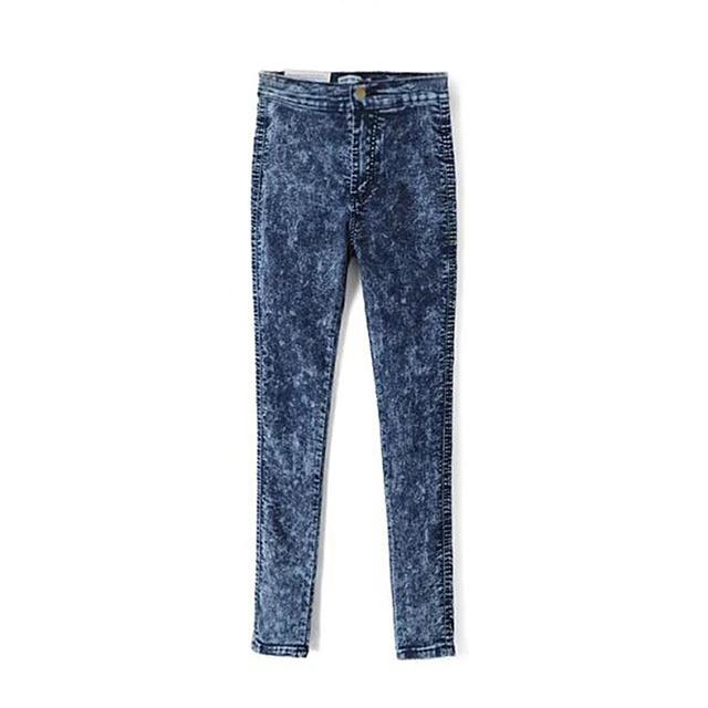 Vintage de Cintura Alta Jeans mujer Lápiz Azul de Mezclilla Pantalones Flacos Delgados Femeninos Pantalones para mujer Stretch Jeans Pantalones Negros