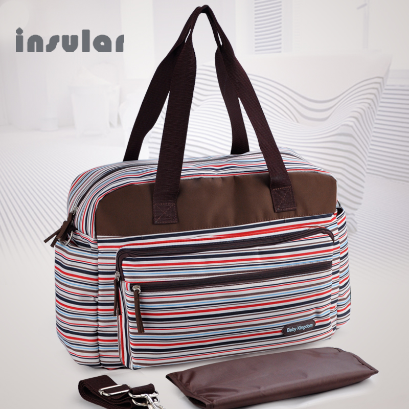Stripe Diaper Bag Set for Mother Large Capacity Waterproof Labor Bag Multifunction Stylish Nurse Changin Bags for Mummy stylish geometry stripe scarf
