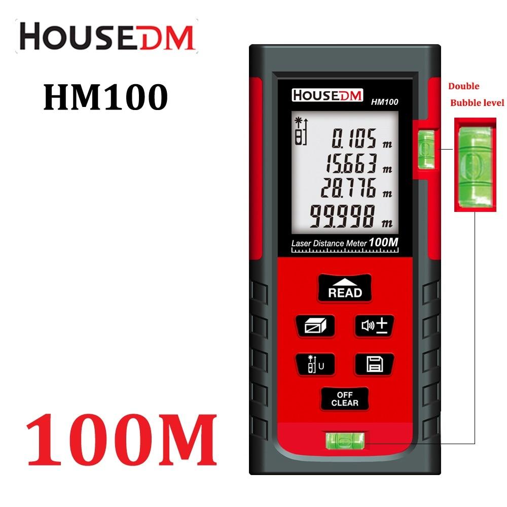 HOUSEDM laser distance meter trena tape measure tools rangefinder 100m-80m-60m-40m W/ Pythagorean/Area/Volume, Diastimeter