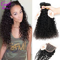 7A Malaysian Curly Hair With Closure Malaysian Curly Hair 3 Bundles Malaysian Deep Curly Virgin Hair With Closure Human Hair