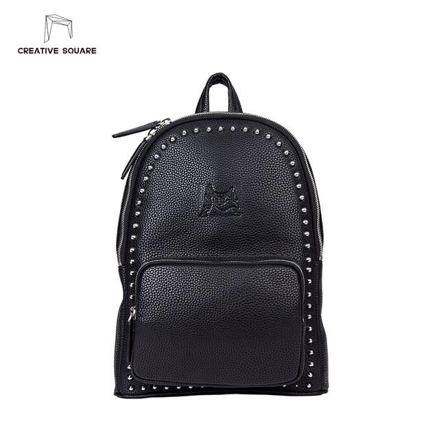 acheter populaire 142ac 71f84 € 116.88 |Creative Carré marque de luxe en cuir sac à dos jeune mode unique  conception originale hommes; s épaule sacs de haute qualité sac à dos dans  ...