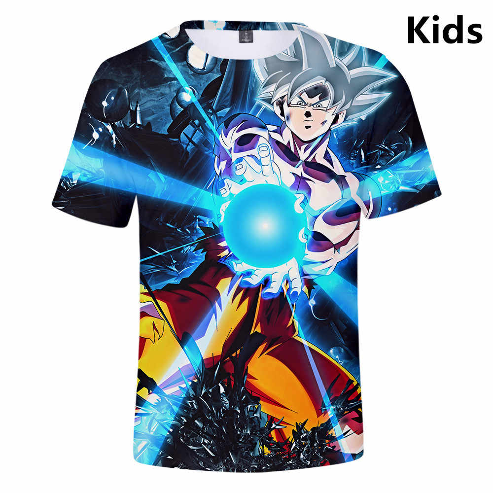 3 Tot 14 Jaar Kinderen T-shirt Dragon Ball Dbz Kinderkleding 3d T-shirt Jongens Meisjes Korte Mouwen T-shirt Cartoon kind T Shirts