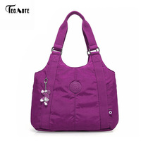TEGAOTE Women Top Handle Shoulder Bag Luxury Handbags Designer Nylon Beach Casual Tote Female Purse Sac