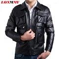 LONMMY Leather jacket men coat Men Clothes casaco Slim mens leather jackets and coats jaqueta de couro spring jacket Suede 2016