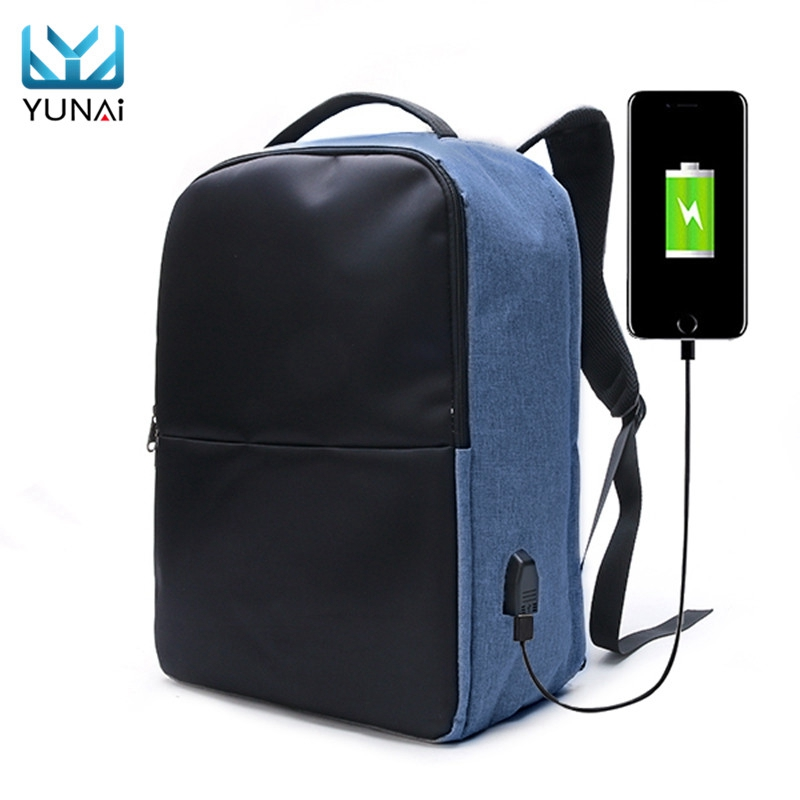 YUNAI Notebook Computer Case Sleeve Bag For Men For Women Anti-theft Backpack Waterproof Travel Laptop Bag With USB Charging